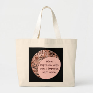 funny wine drink tote
