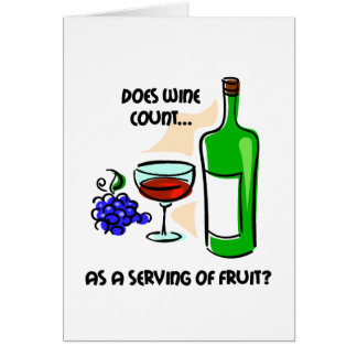 Funny wine humor saying card