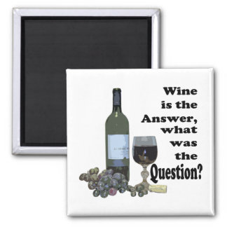Funny Wine saying Magnet