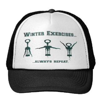Funny Winter Exercises Cap