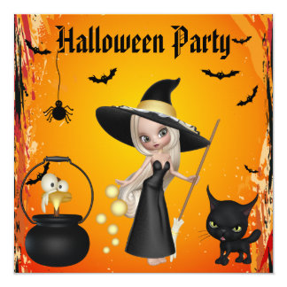 Funny Witches Brew Halloween Party Invites