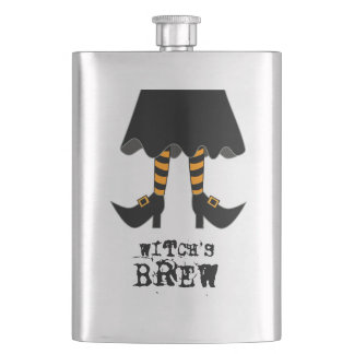 Funny Witch's Brew Hip Flask
