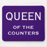 Funny Woman CFO Nickname - Queen of the Counters Mousemats
