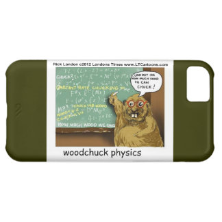 Funny Woodchuck Physics Custom Case-Mate Barely Th iPhone 5C Case