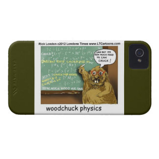 Funny Woodchuck Physics Custom iPhone 4/4S ID Case Case-Mate iPhone 4 Case