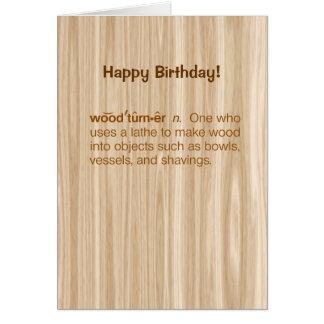Funny Woodturner Definition Woodturning Birthday Card