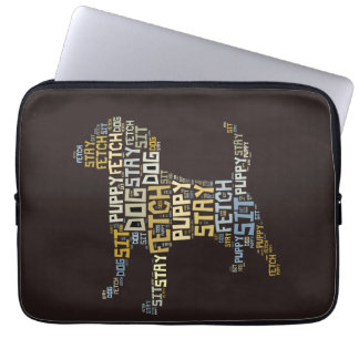 Funny Word Cloud Dog Sit Stay Fetch Obedience Laptop Sleeves