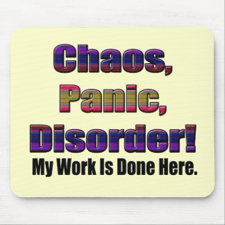 Funny Work Is Done T-shirts Gifts Mouse Pad