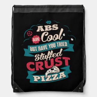 Funny Workout Humor, Abs vs Pizza, Bulking Novelty Drawstring Bag