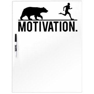 Funny Workout Motivation - Bear Chasing Jogger Dry Erase White Board