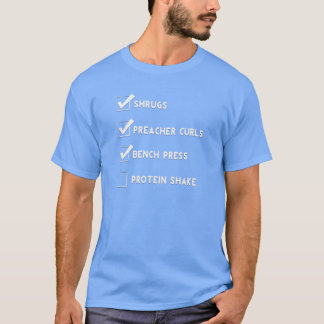 Funny Workout Shirt - Gym Checklist