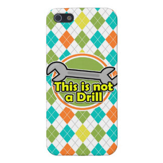 Funny Wrench; Colorful Argyle Pattern Case For iPhone 5/5S