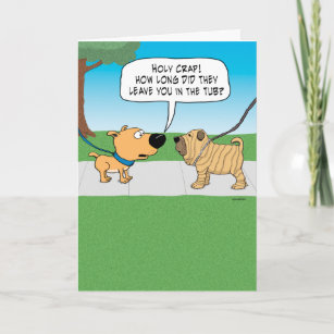 Funny Wrinkly Dog Birthday Card