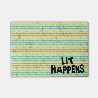 Funny Writer Reader Lit Happens Post-it Notes