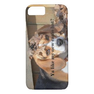Funny Ya like my new camo hat? Beagle Dog iPhone 7 Case