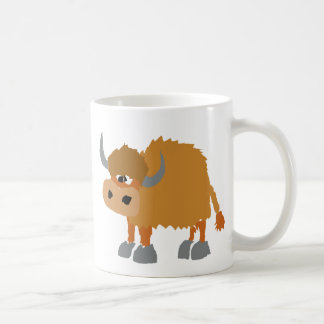 Funny Yak Primitive Art Design Coffee Mug