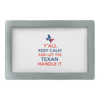 Funny Y'all Texan tees Belt Buckle