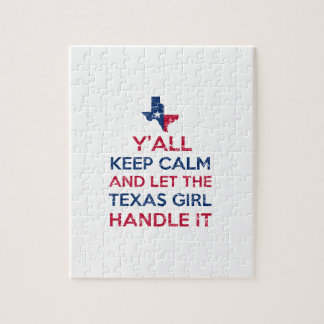 Funny Y'all Texan tees Jigsaw Puzzle