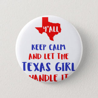 Funny Y'all Texas Girl Tees 6 Cm Round Badge