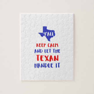 Funny Y'all Texas Girl Tees Jigsaw Puzzle