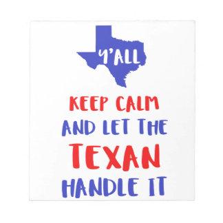 Funny Y'all Texas Girl Tees Notepad