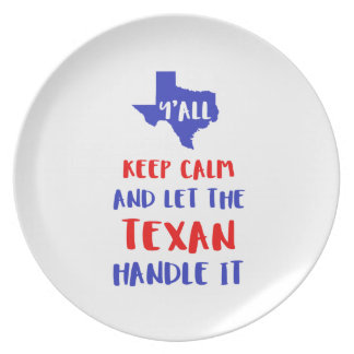 Funny Y'all Texas Girl Tees Plate