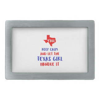 Funny Y'all Texas Girl Tees Rectangular Belt Buckle