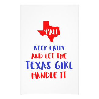 Funny Y'all Texas Girl Tees Stationery