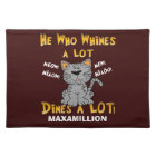 Funny Yellow and Brown Personalised Pet Placemat