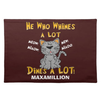 Funny Yellow and Brown Personalized Pet Placemat