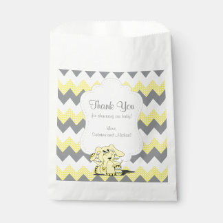 Funny Yellow Chevron Silly Cute Baby Elephant Favour Bag