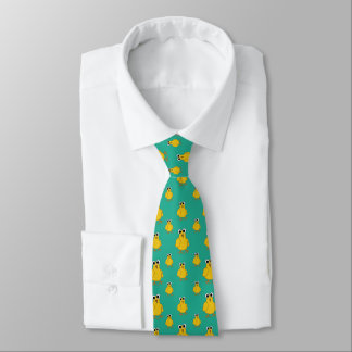 Funny Yellow Chick Pattern Tie