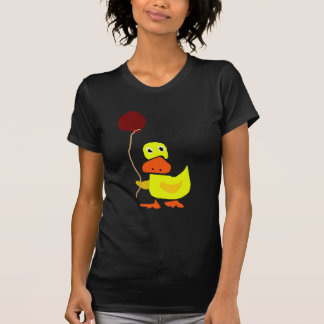 Funny Yellow Duck Holding Red Balloon T-Shirt