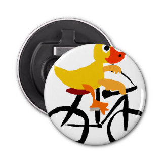 Funny Yellow Duck Riding Bicycle