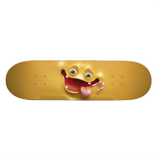 Funny Yellow Face Skate Board