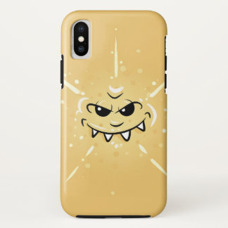 Funny Yellow Face with Sneaky Smile iPhone X Case
