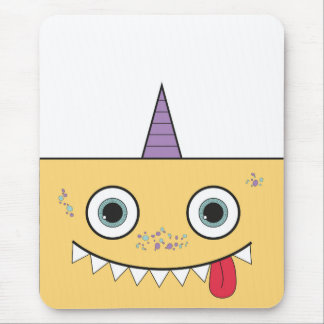 Funny Yellow Monster Mouse Pad