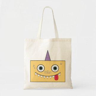 Funny Yellow Monster Tote bag