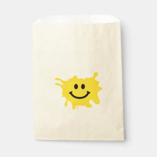 funny yellow smile sport favour bag