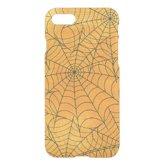 Funny yellow Spider Webs Pattern iPhone 7 Case