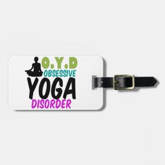 Funny Yoga Luggage Tag