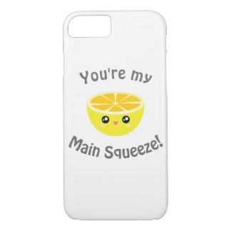 Funny You Are My Main Squeeze Kawaii Lemon Humor iPhone 8/7 Case