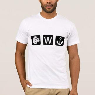 Funny You W Anchor Tee Shirt