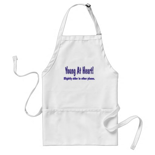 Funny Young At Heart T-shirts Gifts Apron