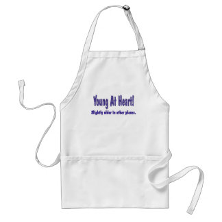 Funny Young At Heart T-shirts Gifts Standard Apron