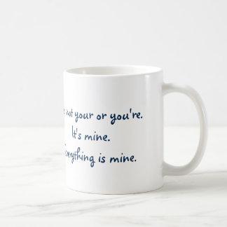 Funny Your You're Grammar Coffee Mug