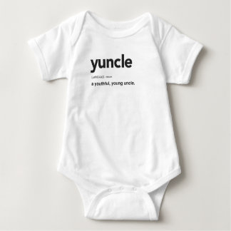Funny Yuncle Definition Print Baby Bodysuit
