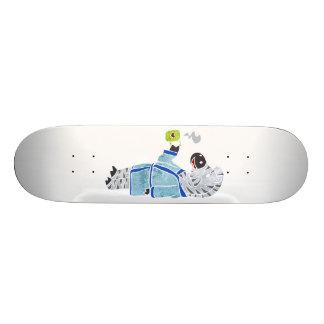 Funny zebra. 21.3 cm mini skateboard deck