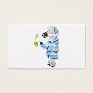 Funny zebra. business card