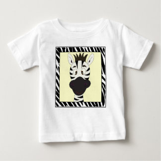 Funny zebra cartoon baby shirt